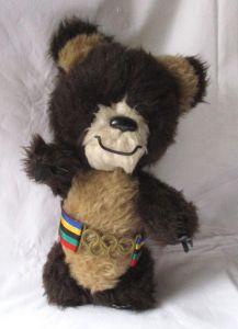 Stofftier Maskottchen Mischka Olympiade Moskau 1980 (126553)