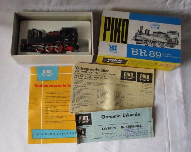 PIKO H0 5/6300 Dampflok BR 89 Oldtimer Reichsbahn OVP Made in GDR DDR (110207)