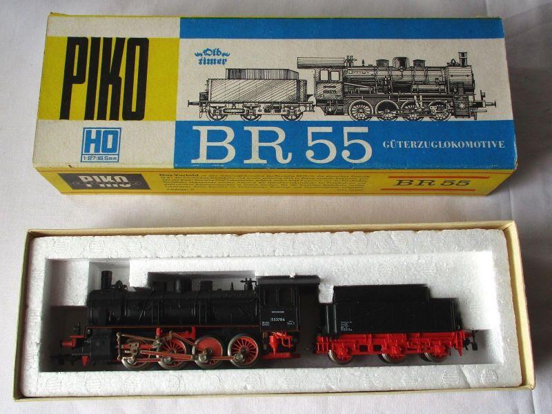 PIKO H0 5/6302 Dampflok BR 55 Oldtimer Reichsbahn OVP Made in GDR DDR (112413)