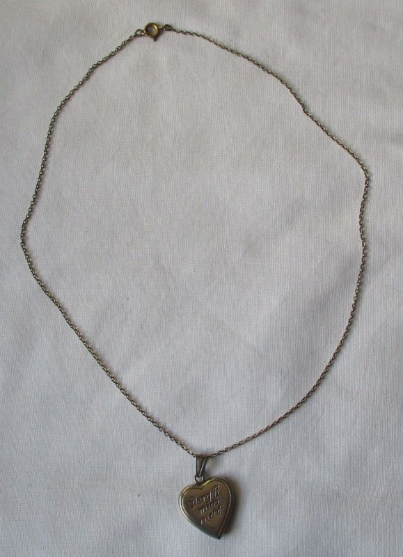 Elegante 800er Silber Kette mit 835er Silber Herz Anhänger (125978)