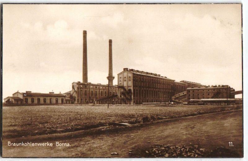 92031 Ak Braunkohlenwerke Borna um 1930