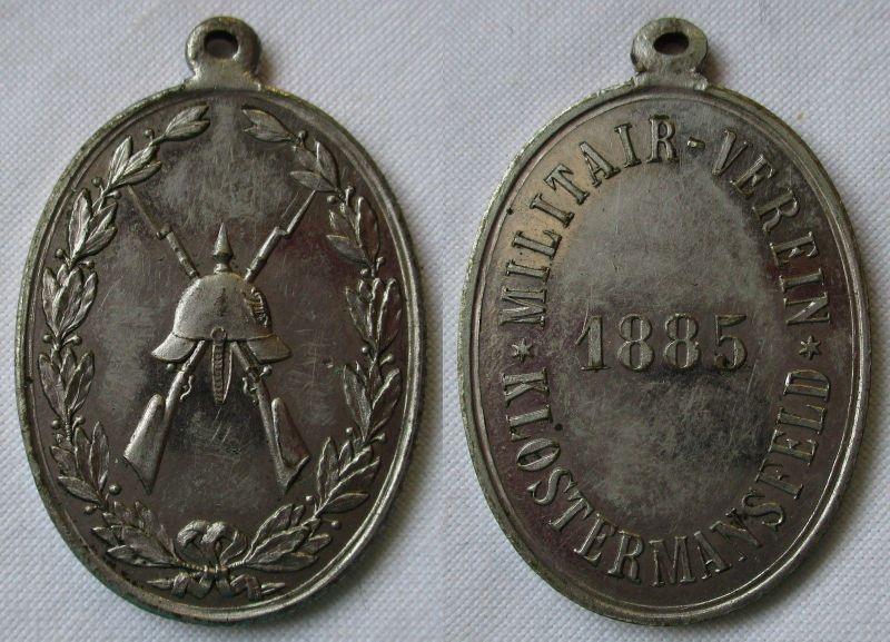 Medaille Militärverein Klostermannsfeld 1885 Pickelhaube vor Gewehren (126311)