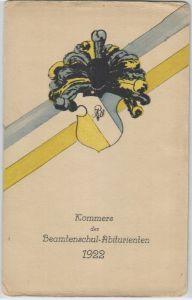 92129 Studentika Ak Leipzig Kommers der Beamtenschul Abiturienten 1922