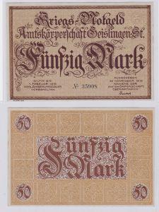50 Mark Banknote Amtskörperschaft Geislingen November 1918 (126625)