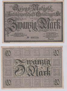20 Mark Banknote Amtskörperschaft Geislingen November 1918 (126623)