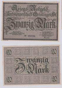 20 Mark Banknote Amtskörperschaft Geislingen November 1918 (126290)