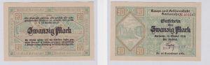 20 Mark Banknote Notgeld Stadt Karlsruhe 16.10.1918 (126134)
