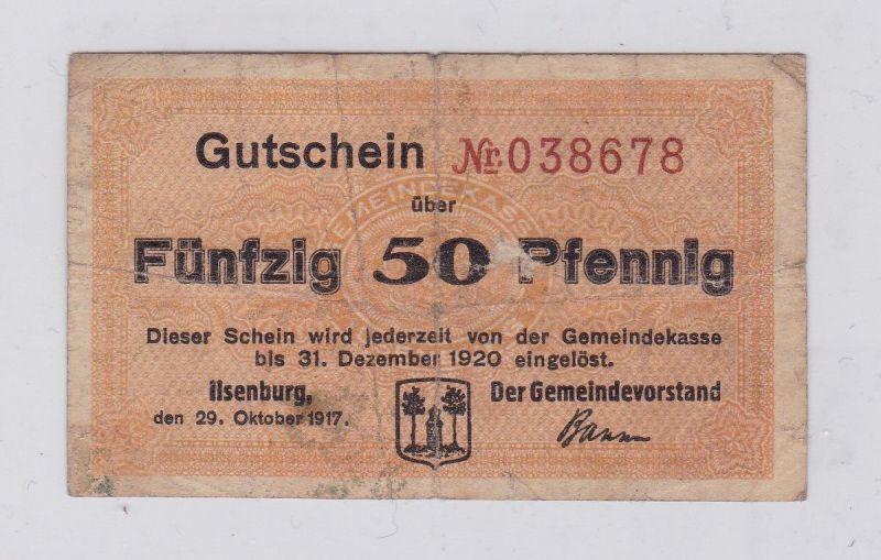 50 Pfennig Banknote Notgeld Gemeinde Ilsenburg 29.10.1917 (126128)