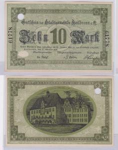 10 Mark Banknote Notgeld Stadtgemeinde Heilbronn a.N. 17.10.1918 (126137)