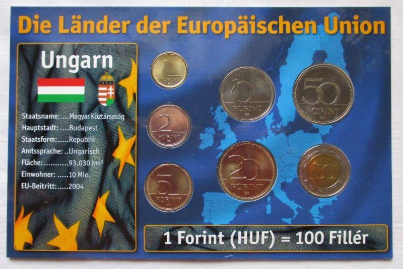 Kursmünzsatz Ungarn 7 Münzen 1 100 Forint 1996 2006 Zertifikat