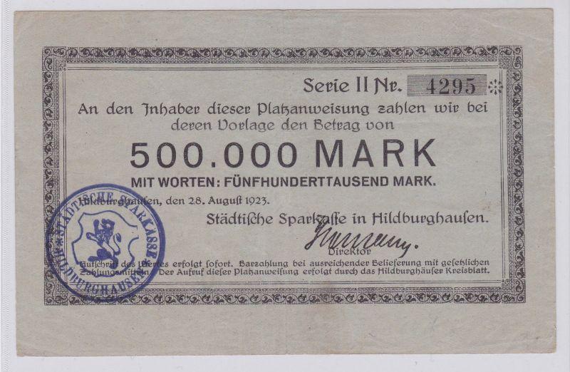 500000 Mark Banknote Städt.Sparkasse Hildburghausen 28.8.1923 (126133)
