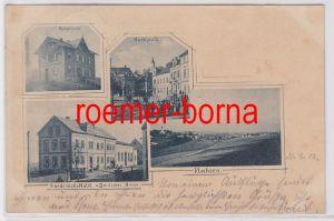 00207 Mehrbild Ak Fleihsen Wunderlichs Hotel Deutsches Haus usw. 1902