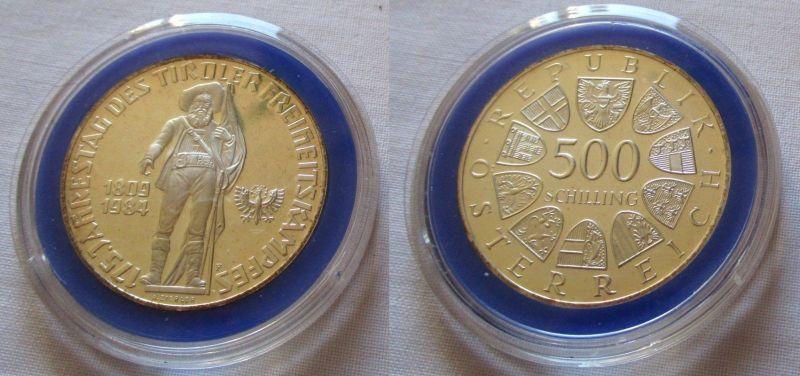 500 Schilling Silber Münze Österreich 1984 Tiroler Freiheitskampf (126207)