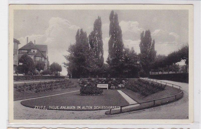 85702 Ak Zeitz neue Anlagen im alten Schiessgraben 1933