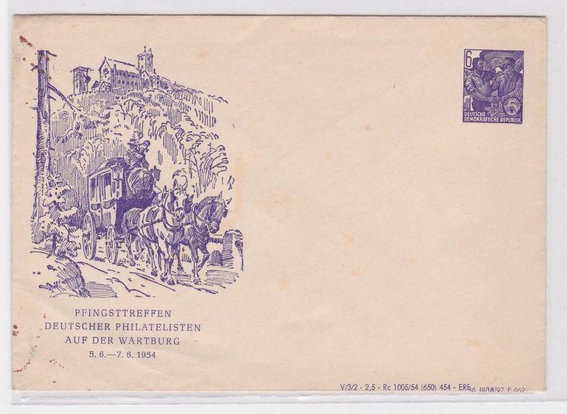 50666 Ganzsachen Brief Pfingsttreffen Deutscher Philatelisten Wartburg 1954