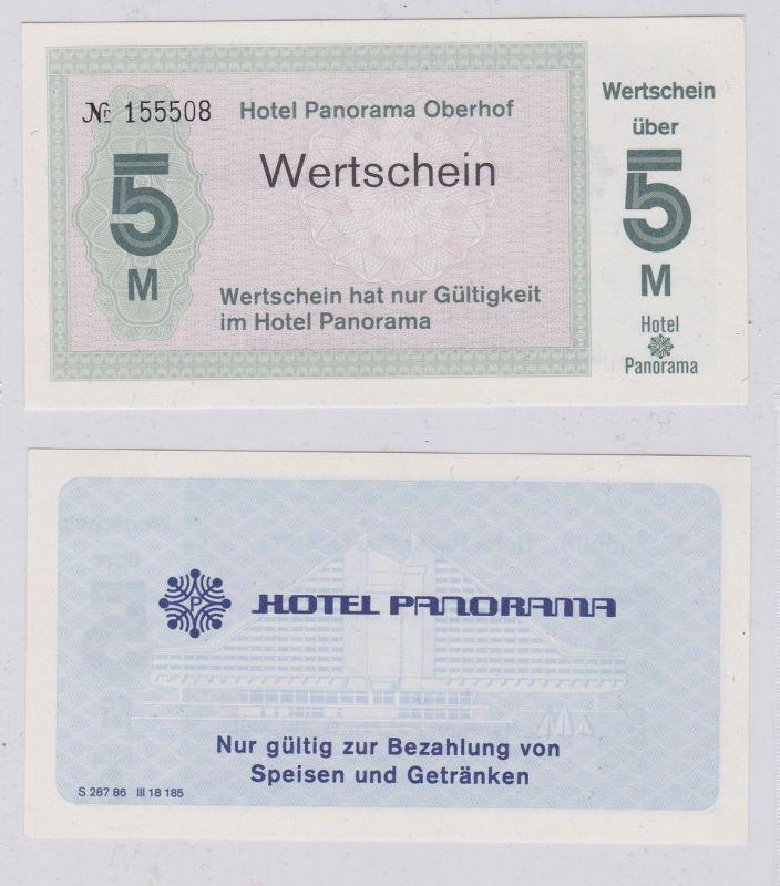 5 Mark DDR Wertschein Hotel Panorama Oberhof um 1980 (127165)