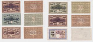 6 Banknoten Inflation Stadt Pößneck 1923 (126882)