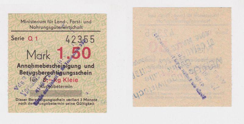 Bezugsberechtigungsschein Ministerium für Landwirt.DDR für 6 Kilo Kleie (126208)