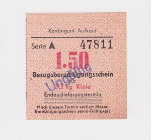 1,50 Mark Bezugsberechtigungsschein DDR für 3 Kilo Kleie (126568)