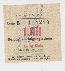 1,00 Mark Bezugsberechtigungsschein DDR für 3 Kilo Kleie (126093)