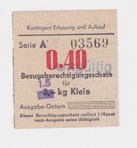 0,40 Mark Bezugsberechtigungsschein DDR für 3 Kilo Kleie (126096)
