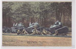 73192 Ak Kamp von Beverloo 3 Panzer Tanks um 1915