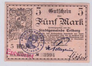5 Mark Banknote Notgeld Stadtgemeinde Triberg 15.10.1918 (126107)