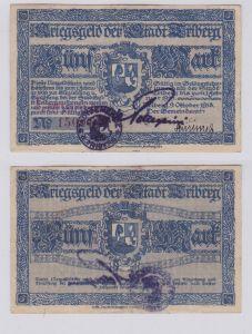 5 Mark Banknote Notgeld Stadt Triberg 9.10.1918 (126253)