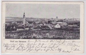 86524 Ak Gruß aus Dürnkrut Niederösterreich Totalansicht 1906