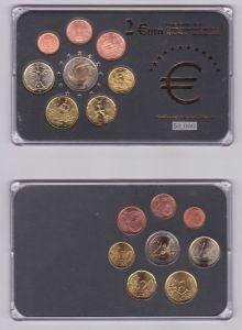 Italien KMS Gedenkmünzensatz 1 Cent bis 1 Euro + 2 Euro Gedenkmünze (126951)