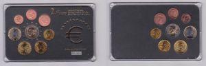 Luxemburg KMS Gedenkmünzensatz 1 Cent bis 1 Euro + 2 Euro Gedenkmünze (126936)