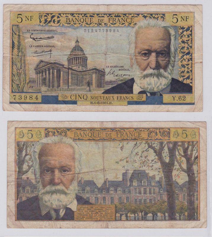 5 Neue Francs (Nouveaux Francs) Banknote Frankreich 1.6.1961 Pick 141a (126416)