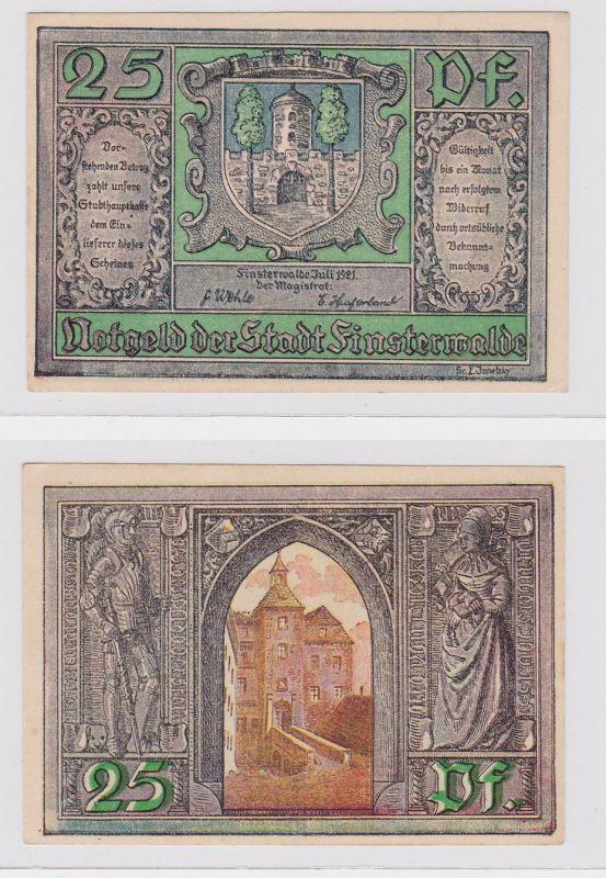 25 Pfennig Banknote Notgeld Stadt Finsterwalde 1921 Fehldruck (126400)
