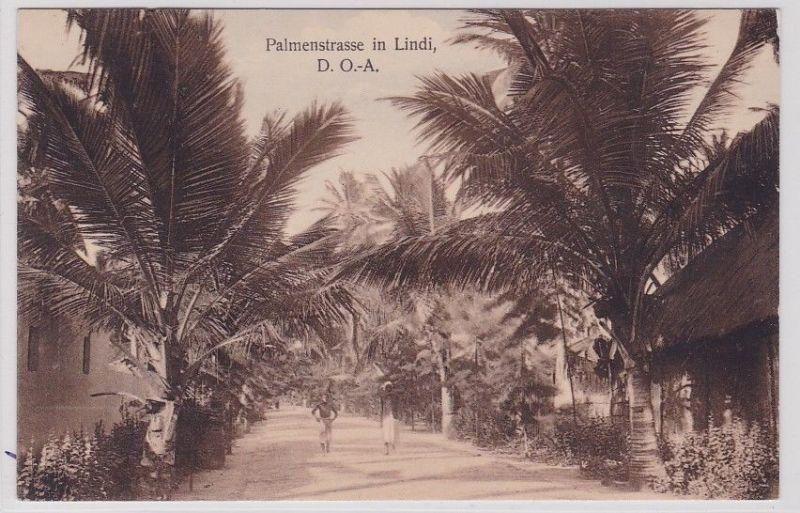 92396 Ak Palmenstrasse in Lindi Deutsch Ostafrika um 1910