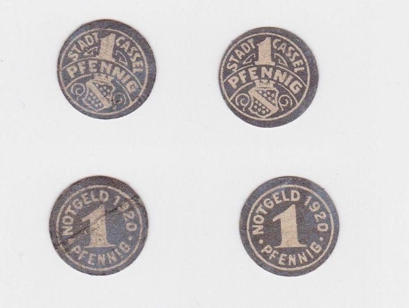 2 x 1 Pfennig Banknoten Notgeld Stadt Cassel Kassel 1920 (126138)