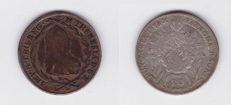 20 Kreuzer Silber Münze Rdr Habsburg österreich Maria Theresia 1778