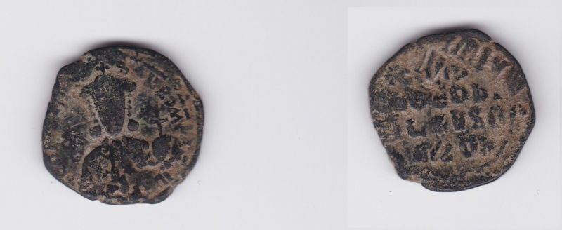 Bronze Münze Follis 913-959 n.Chr. Byzanz Constantin VII. Romanus I. (126990)