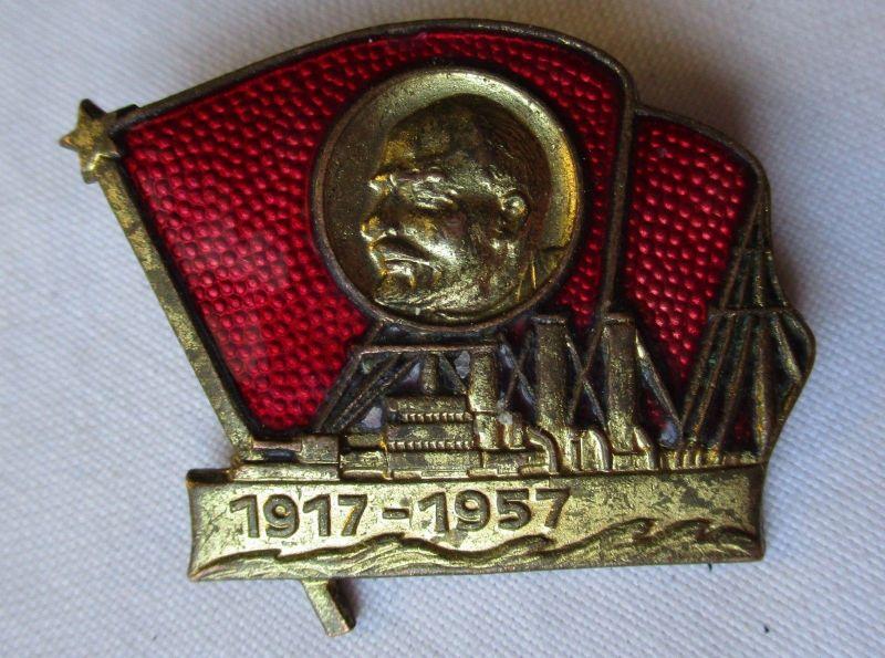 UDSSR Abzeichen Russland Lenin Kampf ü. dem Schiff der Aurora 1917-1957 (126047)