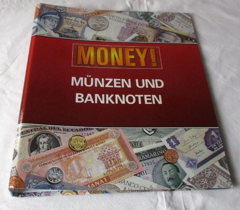 Sammelmappe Kursmünzsätze & Banknoten aus aller Welt 60er-90er Jahre (120313)