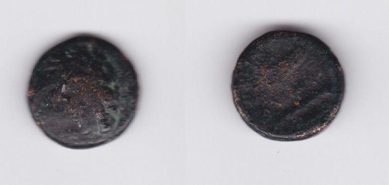 Antike griechische Bronze Münze Makedonien Dichalkon Herakleskopf (127285)