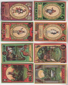 4 x 50 Pfennig Banknoten Notgeld Hamburg Zoologischer Garten 1921 (116202)