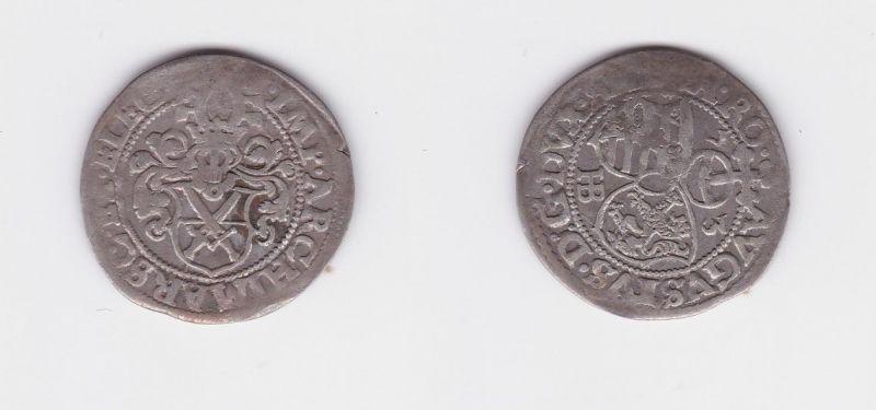Groschen Silber Münze Kurfürstentum Sachsen August HB Dresden 1573 (127348)