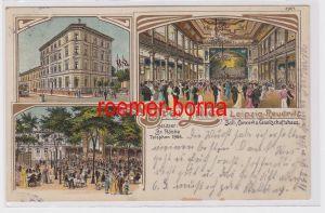 88486 Ak Lithographie Leipzig Reudnitz Etablissement Drei Lilien 1911