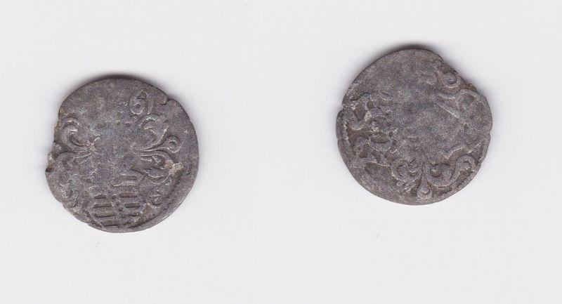 Dreier Silber Münze Kurfürstentum Sachsen August HB Dresden 1561 (127347)