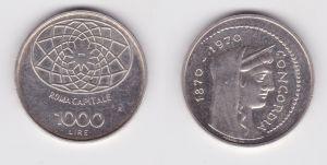 1000 Lire Silber Münze Italien 1970 Concordia Rom Kapitol Roma Capitale (127364)