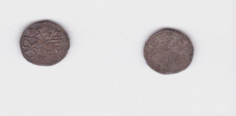 Einseitiger Pfennig Silber Münze Kurfürstentum Sachsen Friedrich 1542 (127361)