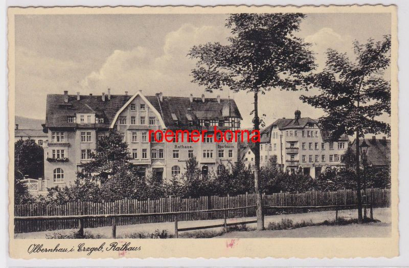 85671 Ak Olbernhau im Erzgebirge Rathaus um 1930