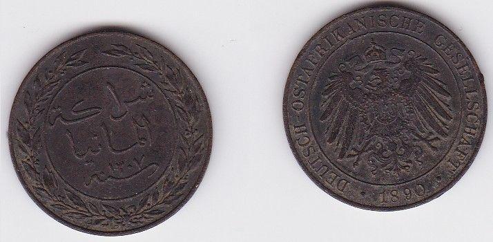 1 Pesa Kupfer Münze Deutsch Ostafrika 1890  (123187)