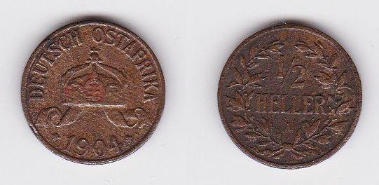 1/2 Heller Kupfer Münze Deutsch Ostafrika 1904 A (123055)