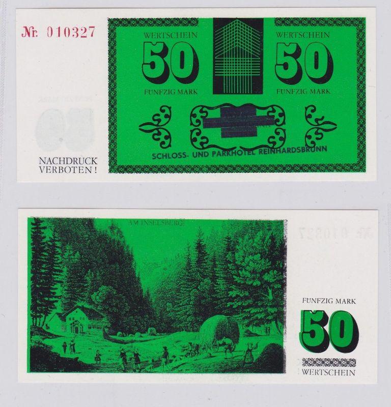 50 Mark DDR Wertschein Schloß- & Parkhotel Reinhardsbrunn ohne Jahr (126256)